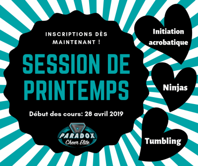 Inscription Printemps 2019