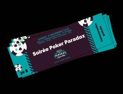 Billet Soirée Poker 9 nov. 2019